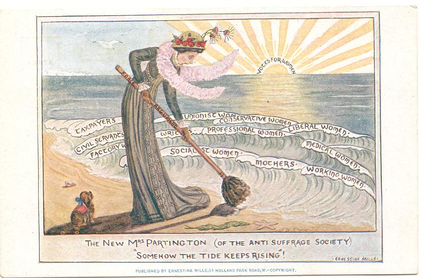 The New Mrs. Partington en de suffragettes