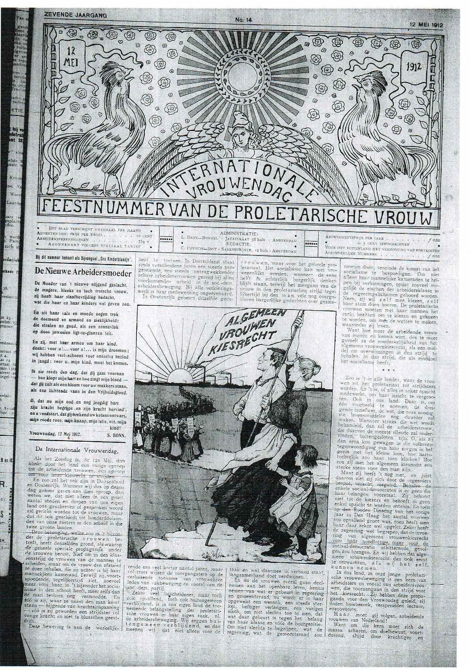 De proletarische vrouw; 1912, 12 mei