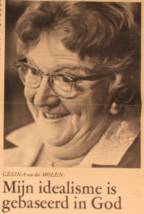 "Gesina: ""My idealism in based in God."" (De Spiegel, 29 April 1967. VU Archive)"