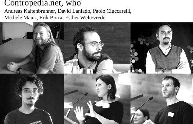 Six of the nine Contropedia- researchers
